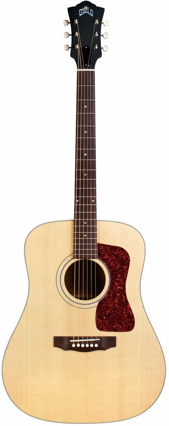 Guild D-40 Acoustic Guitar - Made in the USA!  Solid Sitka Spruce top, Solid Mahogany Back/Sides - Natural Finish - Includes Guild Deluxe Hardshell Case