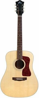 Guild D-40E Acoustic-Electric Guitar - Made in the USA!  Solid Sitka Spruce top, Solid Mahogany Back/Sides - Natural Finish - Includes Guild Deluxe Hardshell Case