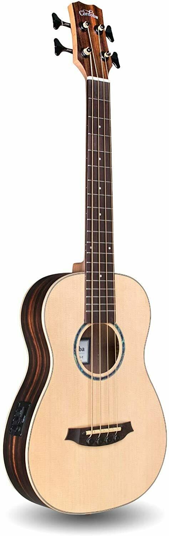Cordoba Mini II Bass EB-E, Striped Ebony, Small Body, Acoustic-Electric Bass Guitar