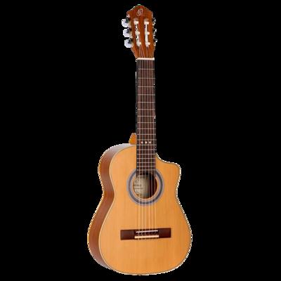 Ortega Requinto Series Pro - RQ39E - Acoustic Electric Requinto Guitar - Solid Cedar Top