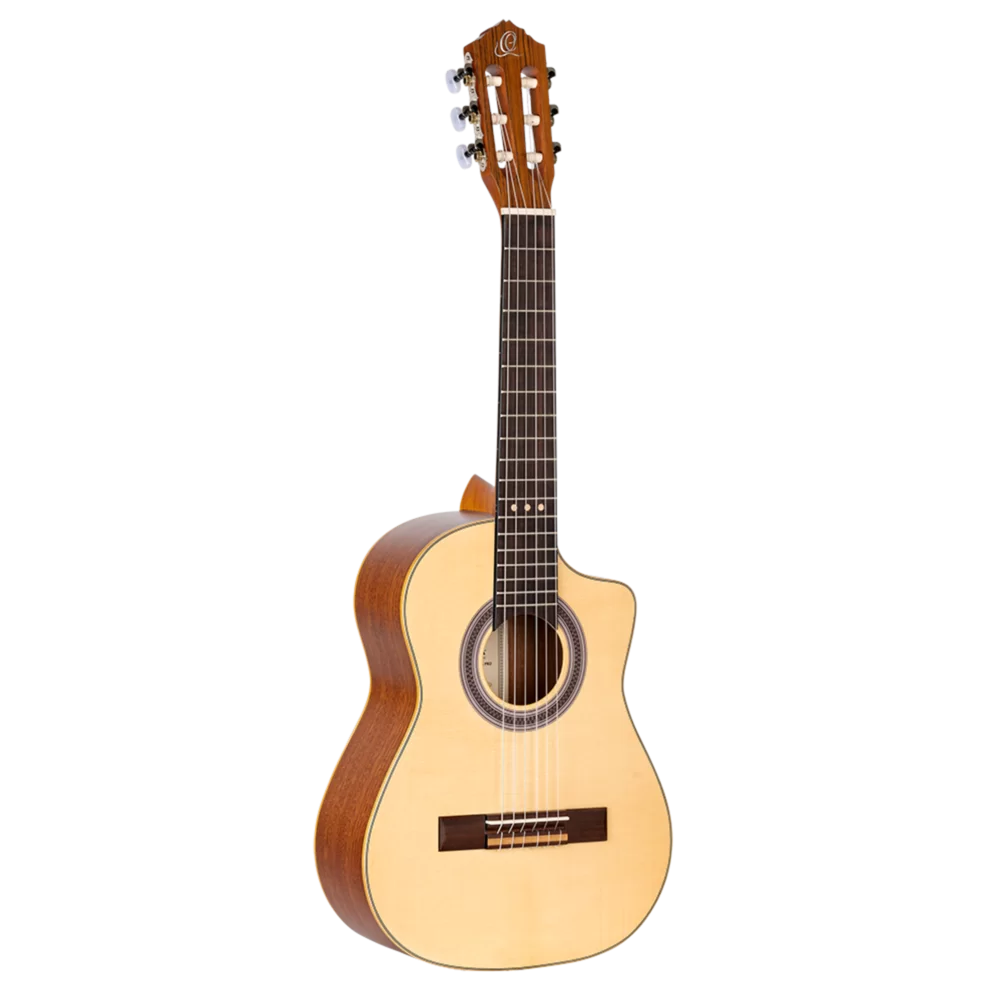 Ortega Requinto Series Pro - RQ38 - Acoustic Requinto Guitar - Solid Englemann Spruce Top