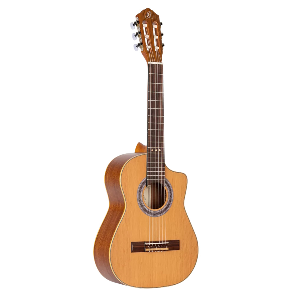 Ortega Requinto Series Pro - RQ39 - Acoustic Requinto Guitar - Solid Cedar Top