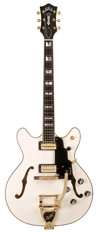Guild Starfire VI - Snow Crest White - Semi Hollow Body Electric Guitar