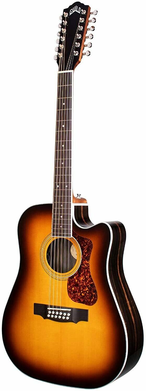 Guild Guitars D-2612CE - 12-string Acoustic Guitar, Antique Burst, Archback Deluxe, Solid Top, Dreadnought
