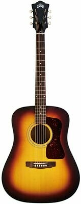 Guild D-40E Antique Burst - Acoustic Electric Guitar - All solid wood - Satin Lacquer Finish - Made in the USA!