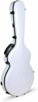 Crossrock 335 style guitar case, Fiberglass hard shell with Backpack Straps, White (CRF1000SAWT)