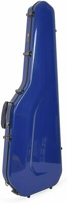 Crossrock Fiberglass Case for Telecaster and Stratocaster Style in Electric Guitars - Navy Blue (CRF1000GSTNVBL)