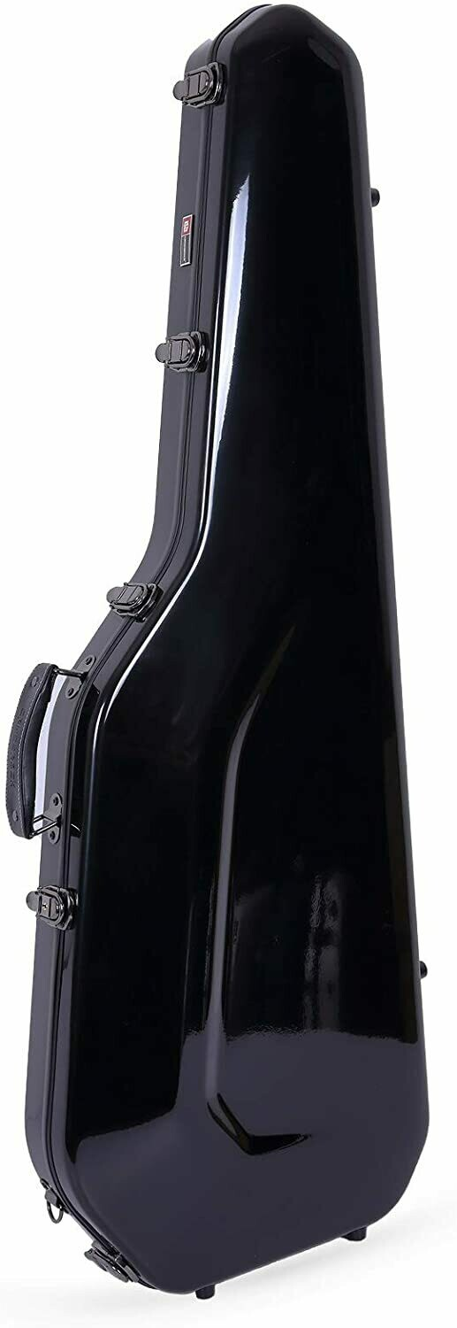 Crossrock Fiberglass Case for Telecaster and Stratocaster Style in Electric Guitars - Black (CRF1000GSTBK)
