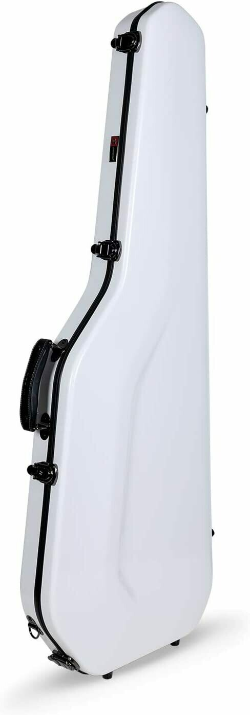 Crossrock Fiberglass Case for Telecaster and Stratocaster Style in Electric Guitars - White (CRF1000GSTWT)