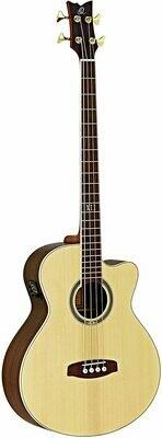 Ortega D558-4 Medium Scale Length Acoustic/Electric Bass Guitar