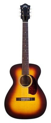 Guild USA M-40E Troubadour Antique Burst - Handmade in the USA - All Solid, Sitka Spruce Top/Mahogany back/sides