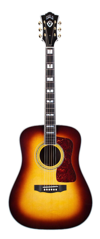 Guild D-55 ATB - Antique Sunburst Acoustic Dreadnought Guitar - Includes Guild Premium Humidified Hardshell Case