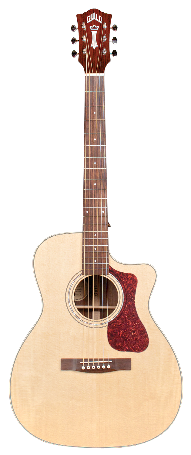 Guild OM-150CE Natural, All Solid Wood, Sitka Spruce Top, Indian Rosewood Back/Sides, Acoustic Electric Steel String Guitar