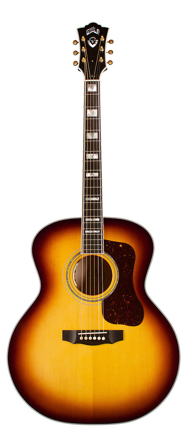 Guild F-55 Maple Antique Burst - All Solid Wood - Sitka Spruce Top, Flamed Maple Back/Sides - Made in the USA