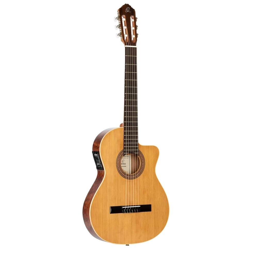 Ortega RCE180T-LTD - Acoustic Electric Cutaway - Thinbody Classical Guitar - Made in Spain