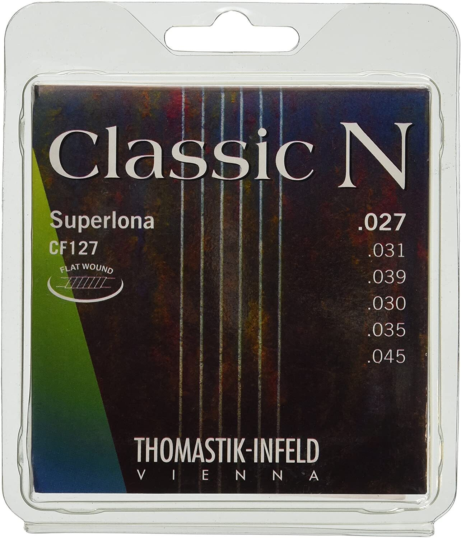 Thomastik-Infeld CF127 Classical Guitar Strings: Classic N Series 6 String Set - Flat Wound Classical Strings