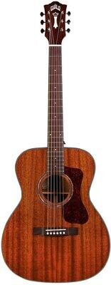 Guild OM-120 Acoustic Guitar - Natural - All Solid Mahogany top, back/sides - with Premium Gig Bag