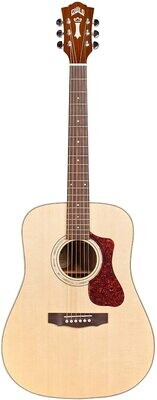 Guild Guitars D-140 Dreadnought Acoustic Guitar, Natural, All Solid Woods, with Premium Gig Bag