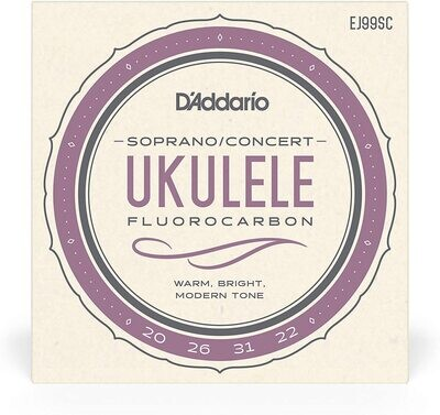 D'Addario EJ99SC Pro-Arté Carbon Ukulele Strings, Soprano/Concert