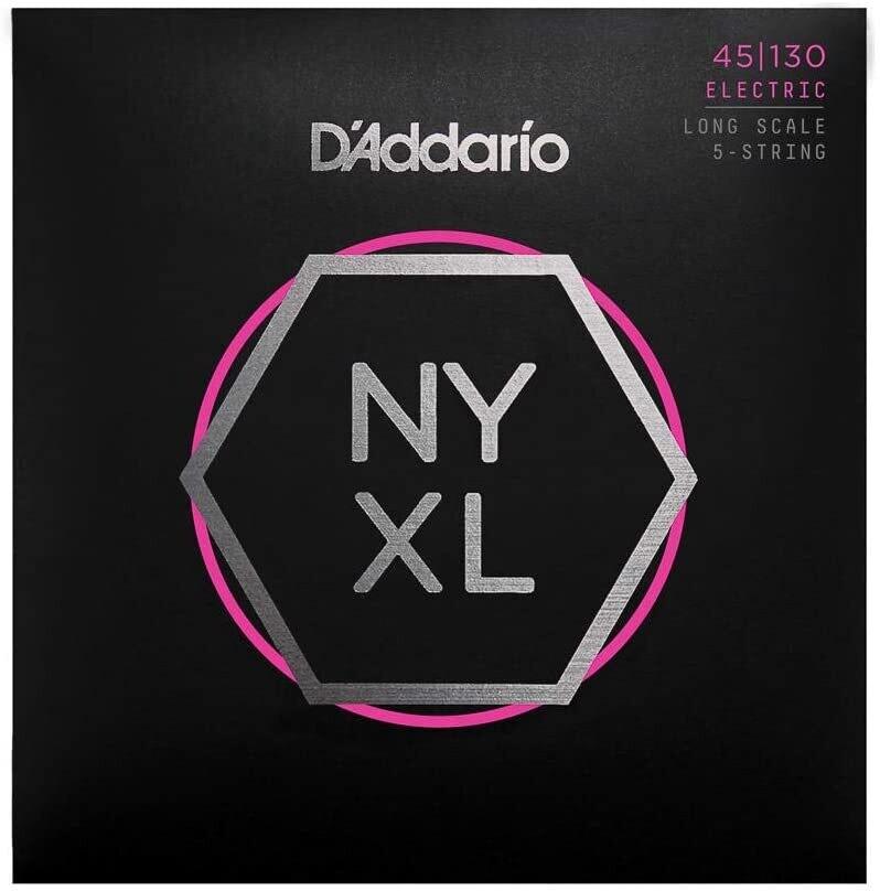 D'Addario NYXL Nickel Wound Bass Guitar Strings - Long Scale - 45-100