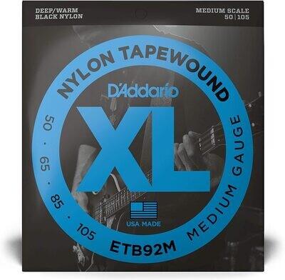 D'Addario ETB92M Tapewound Bass Guitar Strings, Medium, 50-105, Medium Scale