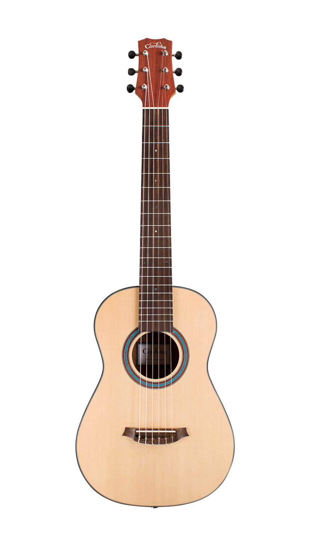 Cordoba Mini II Padauk Small Body Traditional Nylon String Guitar, Natural