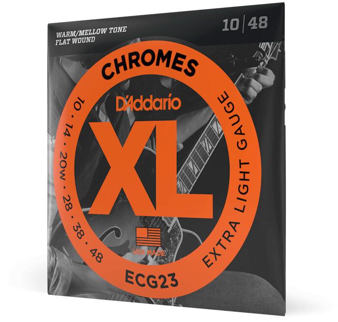 D'Addario 10-48 Extra Light Chromes Set Electric Guitar Strings ECG23