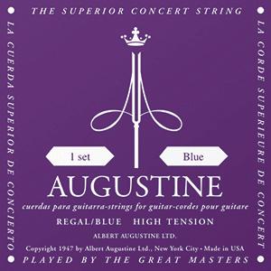 Augustine Regal Blue Classical Guitar Strings - High Tension Bass, Extra High Tension Trebles