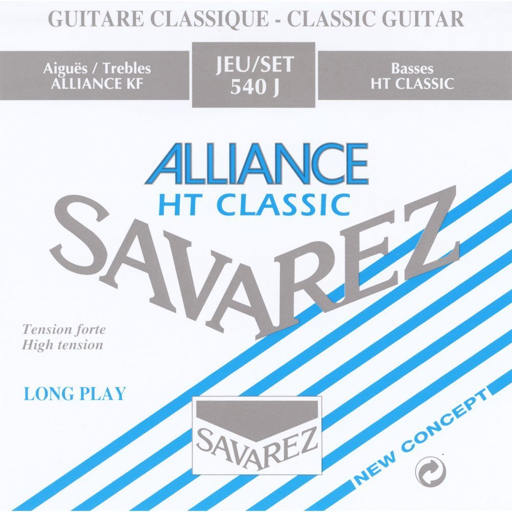 Savarez Strings 540J - Alliance HT Classic - High Tension Nylon Classical Guitar Strings