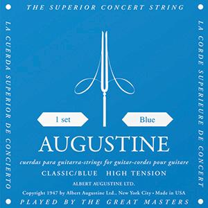 Augustine Classic Blue Classical Guitar Strings - High Tension Bass, Regular  Tension Trebles