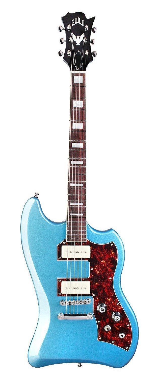Guild T-Bird ST P90 BLU W/B Bag, Pelham Blue - Electric Guitar