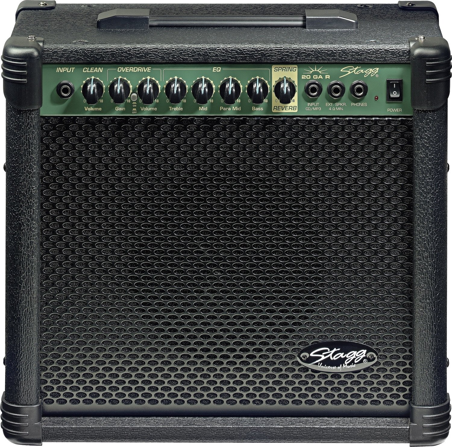 Stagg 20 GA R USA - 20-Watt Electric Guitar Amplifier with Spring Reverb