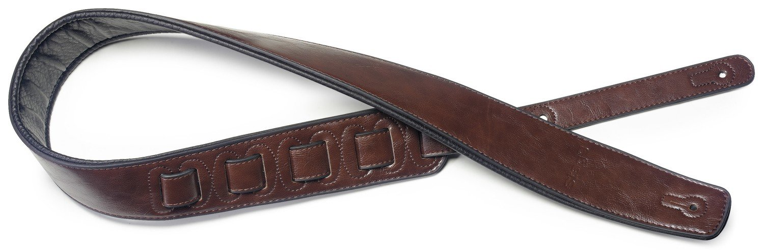 Stagg SPFL 30 BRW Padded Leather Style Guitar Strap, Brown
