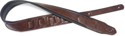 Stagg SPFL 40 BRW Padded Leather Style Guitar Strap, Brown