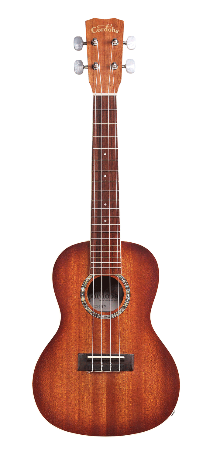 Cordoba 15CM-E with Sunburst Edge - Mahogany Ukulele with Electronics