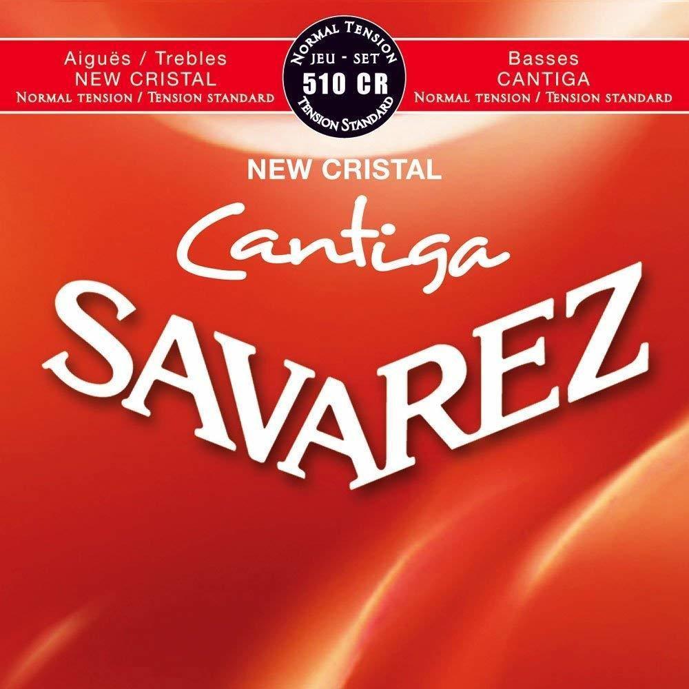 Savarez 510CR New Cristal Cantiga - Classical Guitar Strings, Normal Tension