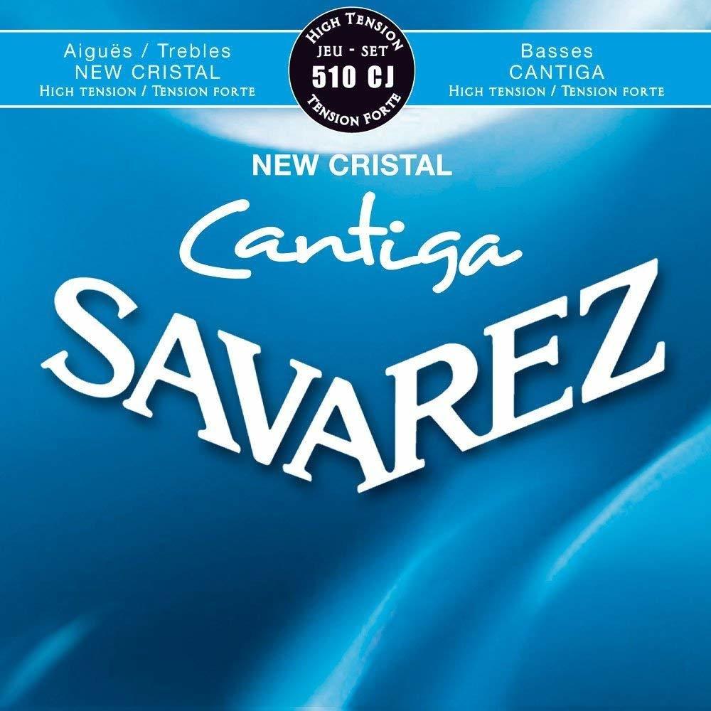 Savarez 510CJ New Cristal Cantiga - Classical Guitar Strings, High Tension