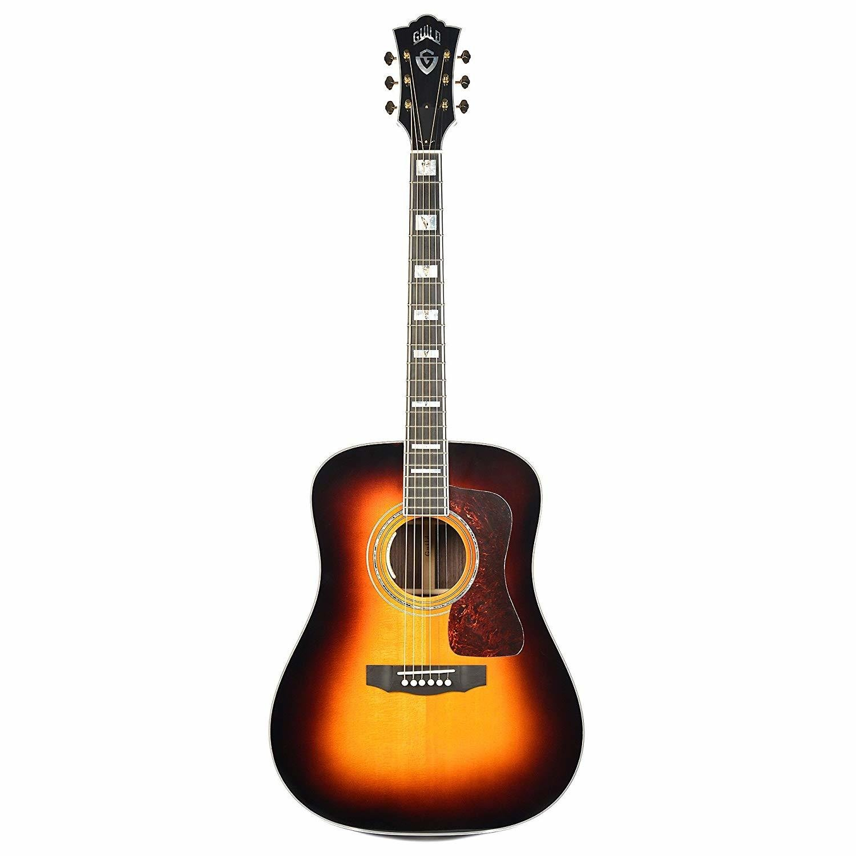 Guild D-55E Vintage Sunburst - LR Baggs Electronics - Made in USA - Steel String Acoustic Electric Guitar