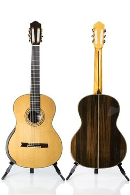 Calido Soloist DT - Cedar Double Top Classical Guitar, Lattice Braced, All Solid Wood, Indian Rosewood Back/Sides, Ebony Fretboard