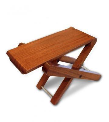 Cordoba Folding Footstool - Solid Mahogany