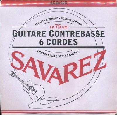 Contrabass Guitar Strings - Savarez - 6CB640R - Set of 6 Strings - 750mm Scale Length