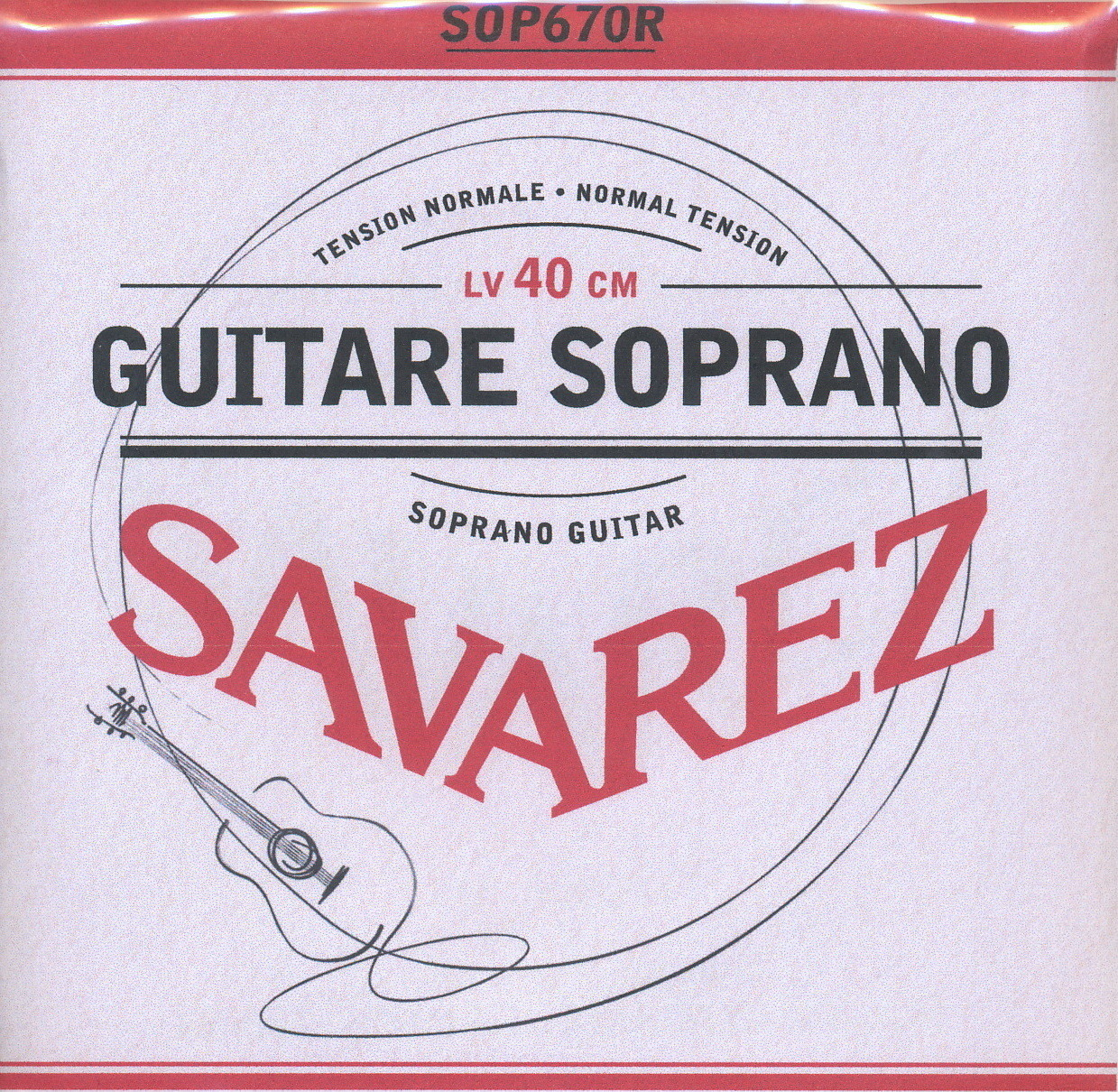Soprano Guitar Strings - Set of 6 - Savarez 670R