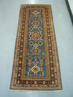 Fine Afghan Runner Blue Sold.