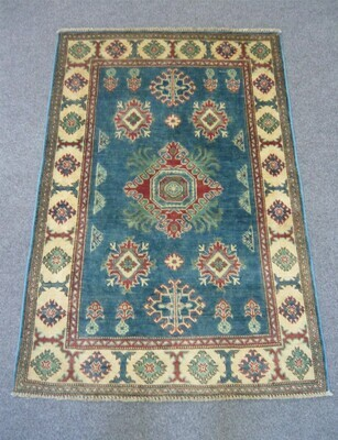 Afghan Rug Blue Sold.