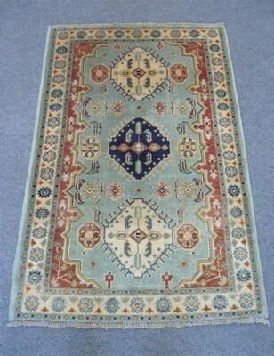 Afghan Rug Pale Blue