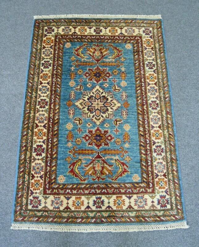 Fine Afghan Rug Blue Sold.