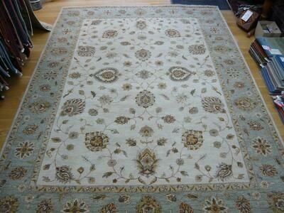 Indian Natural Dyed Rug Cream/Blue