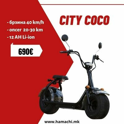 CITY COCO  (12 AH LI-ION 20-30 km)