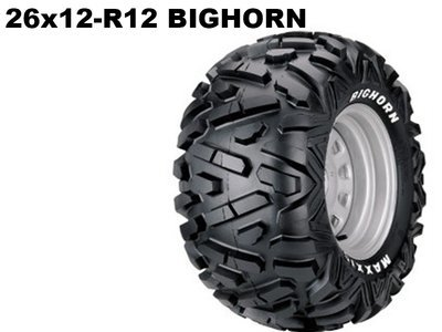 Maxxis ATV 26x12 - R12  Bighorn