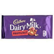 Cadbury Dairy Milk Fruit and Nut 95g